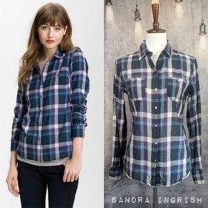 Sandra Ingrish x Nordstrom 2 Pocket Plaid shirt